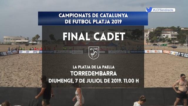 Campionats de Catalunya Futbol Platja - FINAL CADET