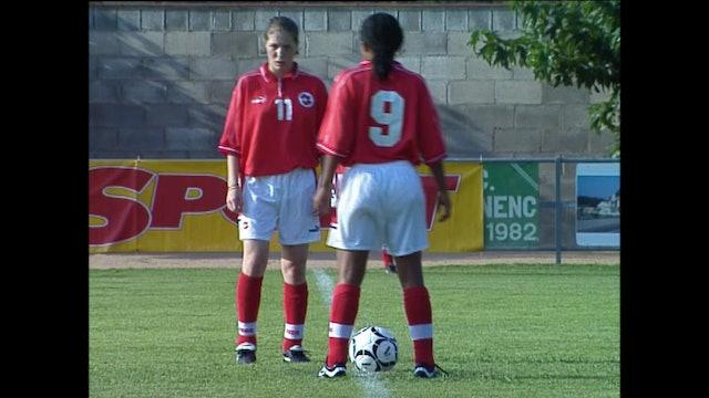 Futbol Femení Catalunya - Suïssa 19-8-2000