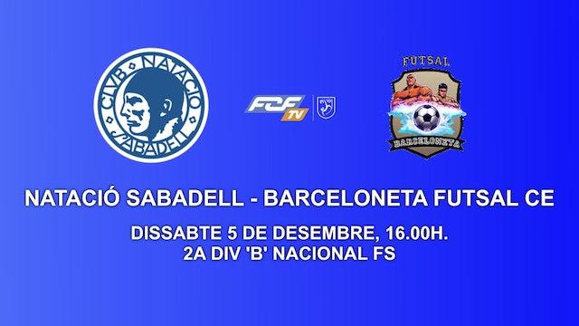 Natacio Sabadell FS- Barceloneta Futsal 2a divisio nacional B
