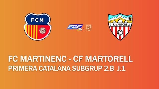 FC Martinenc - CF Martorell (Primera Catalana Subgrup 2B)
