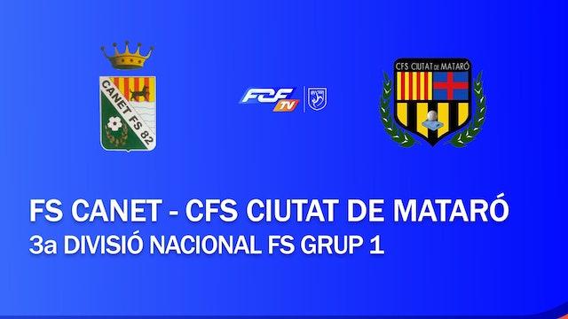 FS Canet - CFS Ciutat de Mataró (3a Divisió Nacional FS Grup 1)