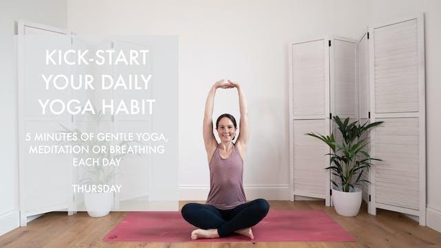 Thursday's habit starter