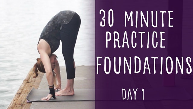 4. Day 1 - Foundations 30 Minute Yoga Practice