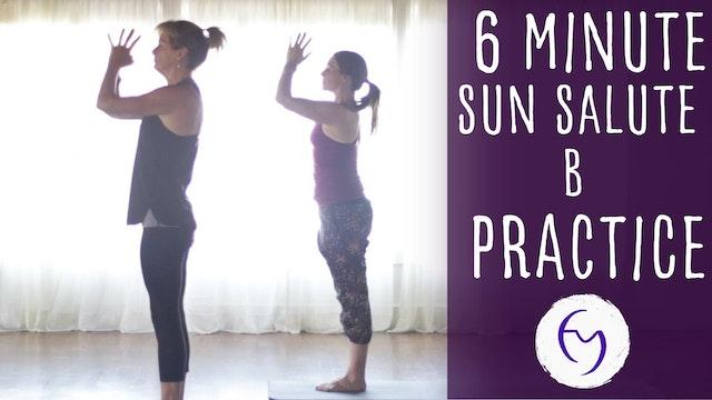 Sun Salute B practice