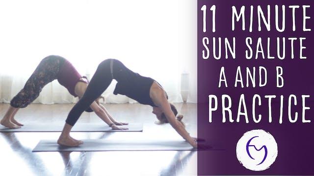 Sun Salute A and B practice