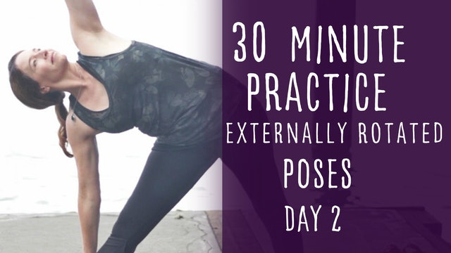 8. Day 2 - Externally Rotated Poses 30 minute Yoga Flow Class