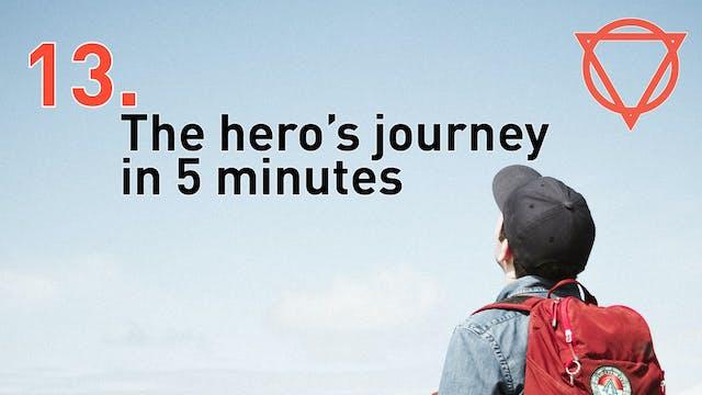 13. The hero's journey in 5 minutes