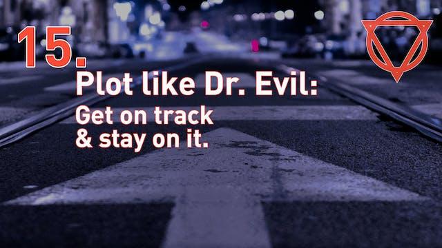 15. Plot like Dr. Evil: Get on track ...
