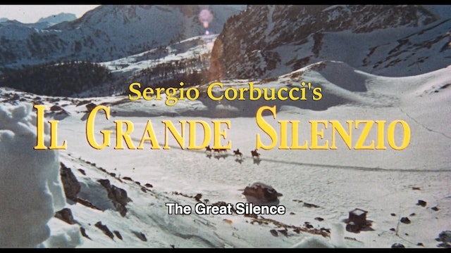 The Great Silence - Restored Theatrical Trailer