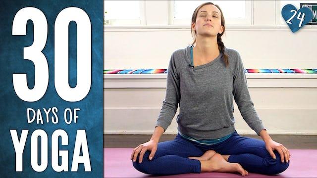 Day 24 - Gentle Yummy Yoga
