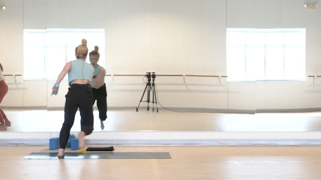 7/13 Pilates Barre with Maddy (sub)