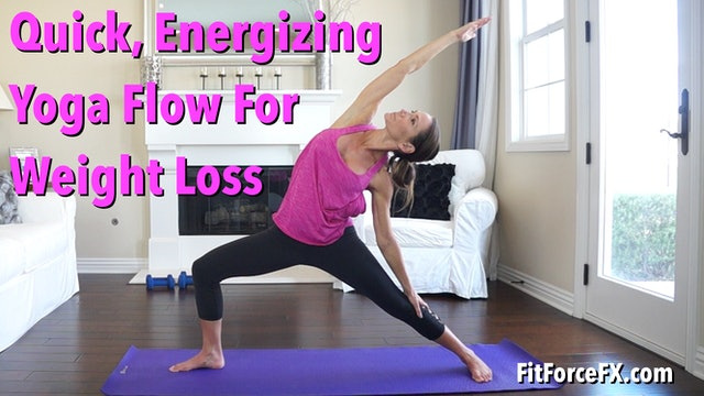 Quick Energizing Yoga Flow For Weight Loss