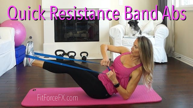 Quick Resistance Band Abs Workout