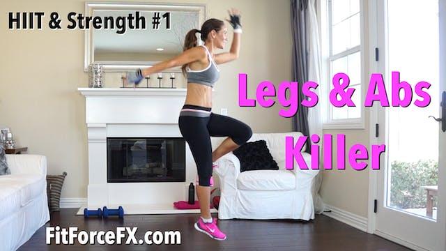 Legs & Abs Killer: HIIT & Strength Se...