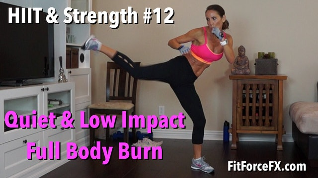Quiet & Low Impact Full Body Burn: HIIT & Strength Workout No.12