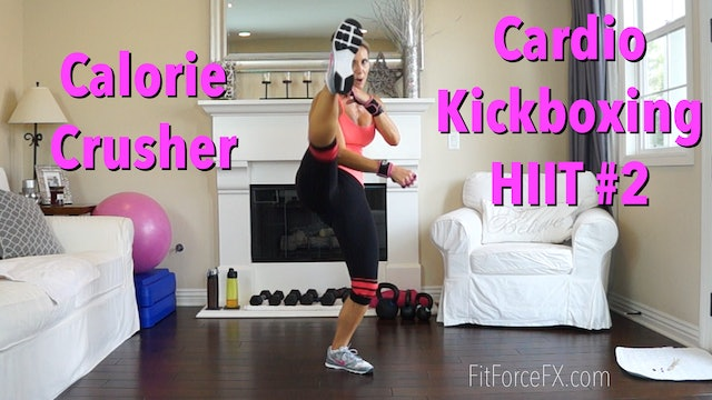 25 Minute Calorie Crusher: Cardio Kickboxing HIIT Series Workout No.2