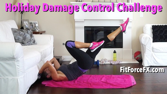 Holiday Damage Control Challenge: 1000 Calorie Killer Mash Up Series WorkoutNo.2