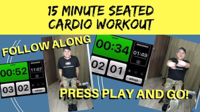 15 Minute Seated Cardio Workout - Tony Jacobsen