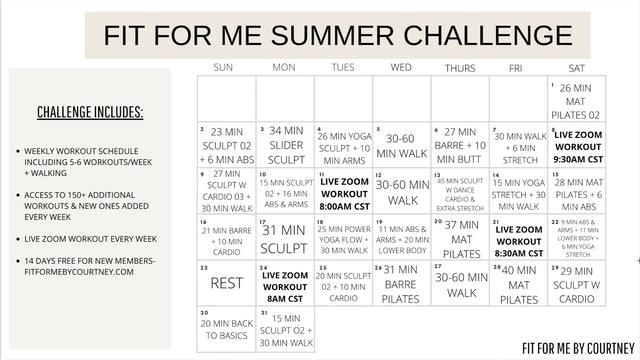 MAY WORKOUT CHALLENGE