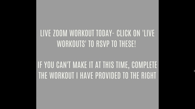 ZOOM WORKOUT