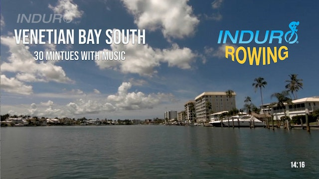 Induro Rowing with Music: Venetian Bay South, Florida - 30 Minute Motion Row