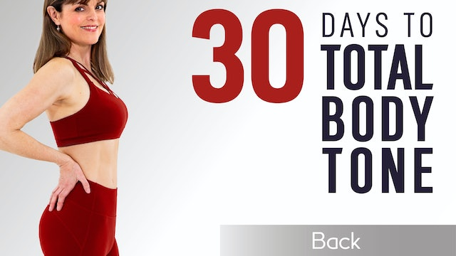 Caroline Sandry: 30 Days to Total Body Tone - Back