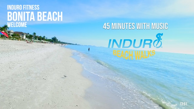 Induro Beach Walking with Music: Bonita Beach, Florida - 45 Minute Walk