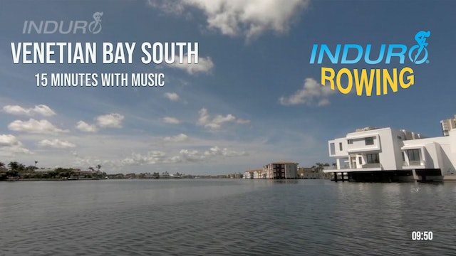 Induro Rowing with Music: Venetian Bay South, Florida - 15 Minute Motion Row