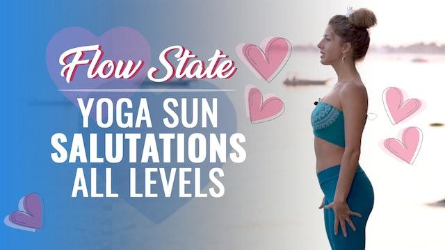 Dashama 7-Day Flow State Challenge: Day 6 - Flow State Yoga Sun Salutations