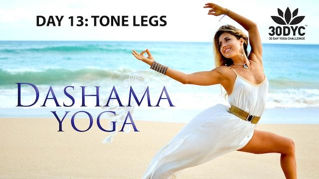 30 Day Yoga Challenge: Practice 13 - Tone Legs