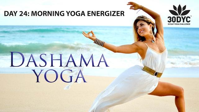 30 Day Yoga Challenge: Practice 24 - Morning Yoga Energizer