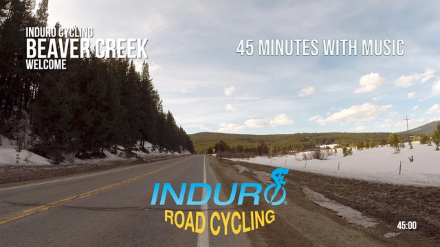 Induro Cycling with Music: Beaver Creek, Colorado - 45 Minute Ride