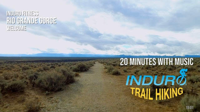 Induro Trail Hiking with Music: Rio Gorge, New Mexico - 20 Minute Hike
