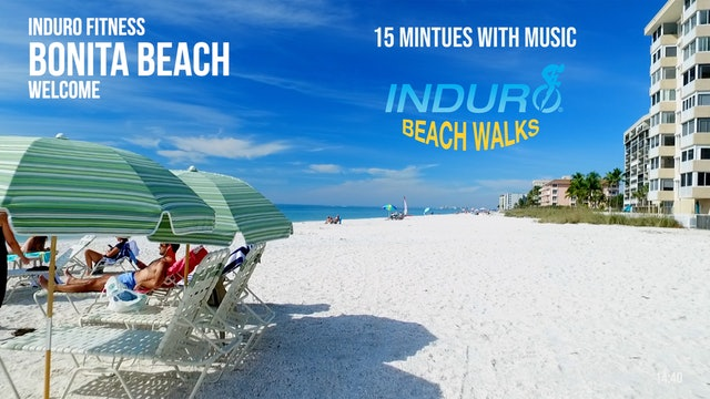 Induro Beach Walking with Music: Bonita Beach, Florida - 15 Minute Walk