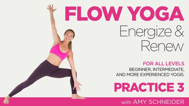 Amy Schneider: Flow Yoga Energize and Renew - Practice 3