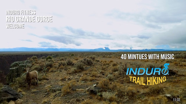 Induro Trail Hiking with Music: Rio Gorge, New Mexico - 40 Minute Hike