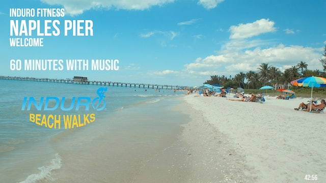 Induro Beach Walking with Music: Naples Pier, Florida - 60 Minute Walk