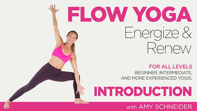 Amy Schneider: Flow Yoga Energize and Renew - Introduction