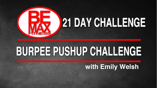 Bemax: Total Body Squat-Burpee-Pushup Challenge