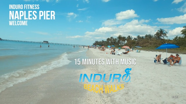 Induro Beach Walking with Music: Naples Pier, Florida - 15 Minute Walk