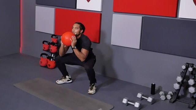 13 Min Legs w/ Dumbbells & Slam Ball