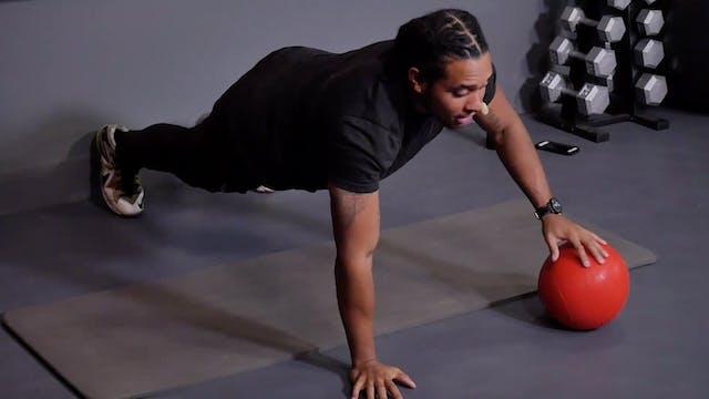 14 Min Core w/ Slam Ball and Dumbbells