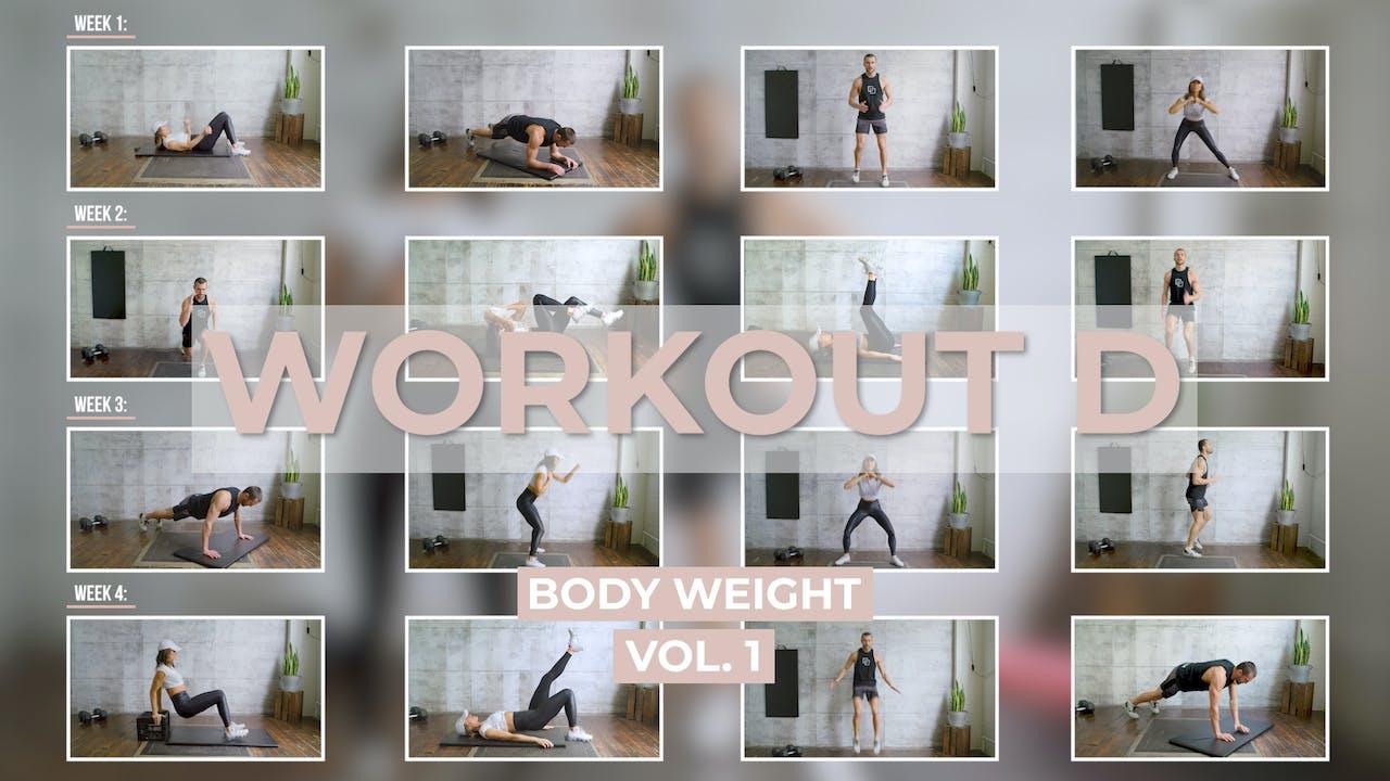 Body Weight Workout D
