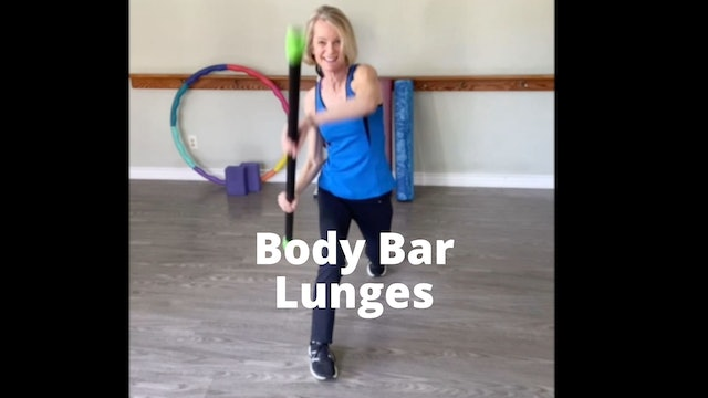 Body Bar Lunges