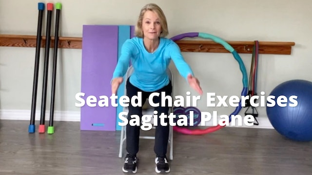 Seated Chair Exercises   Sagittal Plane