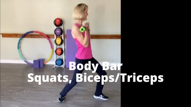 Body Bar Squats, Triceps/Biceps