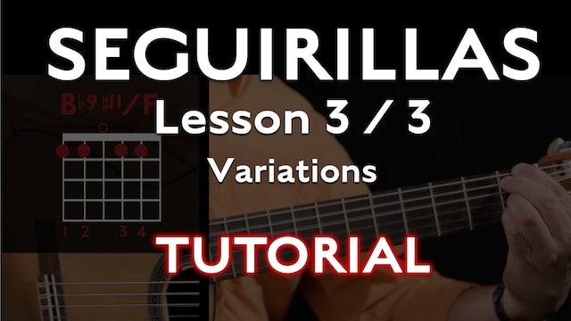 Seguirillas Lesson 3/3 - Variations - TUTORIAL