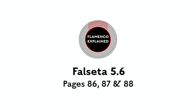 Bulerias Falseta Pages 86, 87 & 88
