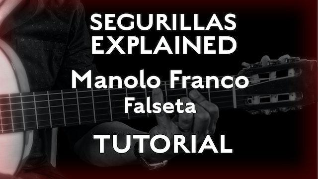 Seguirillas Explained - Manolo Franco Falseta - TUTORIAL