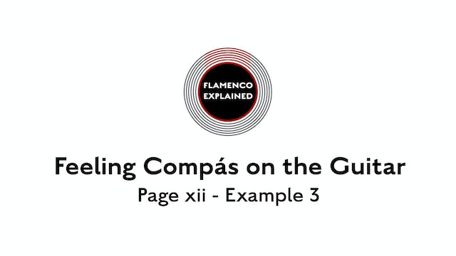 Feeling Compas on the Guitar - Example 3 page xii